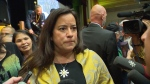 Jody Wilson-Raybould at a rally in Vancouver.