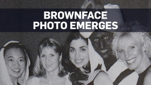 Party leaders react to 2001 photo of Trudeau in br