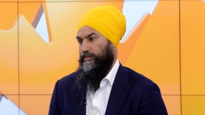 NDP leader Jagmeet Singh takes part in an interview with CTV's Your Morning during a campaign stop in Toronto, Thursday September 19, 2019. (THE CANADIAN PRESS / Adrian Wyld)