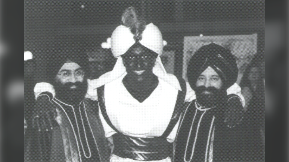 "A second photo of Trudeau at the ""Arabian Nights"" dinner seen in the West Point Grey Academy newsletter titled ""View Point"" from April 2001."
