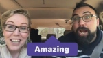 Riverview High School teachers Melanie Mealey and Armand Doucet are hitting all the right notes with their own version of carpool karaoke. (Riverview High School/Facebook)