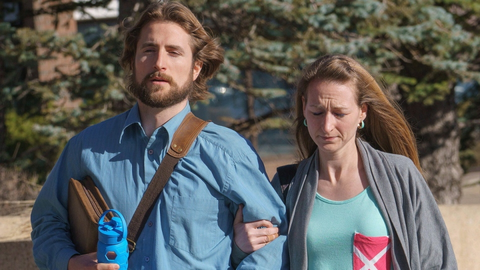 David Stephan and his wife Collet Stephan arrive at court in Lethbridge, Alta., on March 10, 2016. (David Rossiter / THE CANADIAN PRESS)