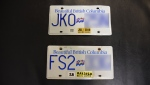 Can you spot the difference between these two licence plates? Coquitlam RCMP are warning against forgeries (Submitted)
