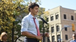 Liberal Leader Justin Trudeau addresses media in Winnipeg on Thursday, Sept.19, 2019. THE CANADIAN PRESS/Sean Kilpatrick
