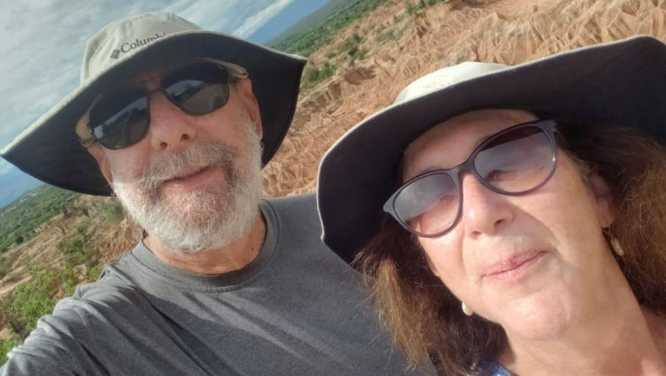 The couple, who have been married for 44 years, started their journey seven months ago in Uruguay. (Supplied)