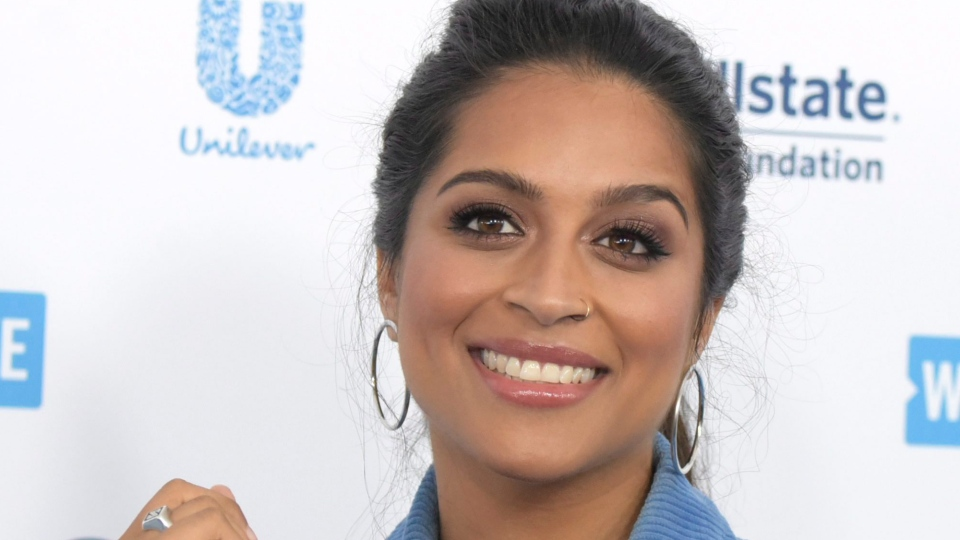 Lilly Singh arrives at WE Day California at The Forum on Thursday, April 25, 2019, in Inglewood, Calif. (Photo by Richard Shotwell/Invision/AP)