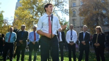 Trudeau takes questions from reporters