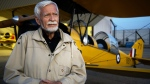 Don MacPherson has fulfilled his lifetime ambition of stepping into a 1942 de-Havilland Tigermoth. (Slavomir Kutas/CTV Saskatoon)
