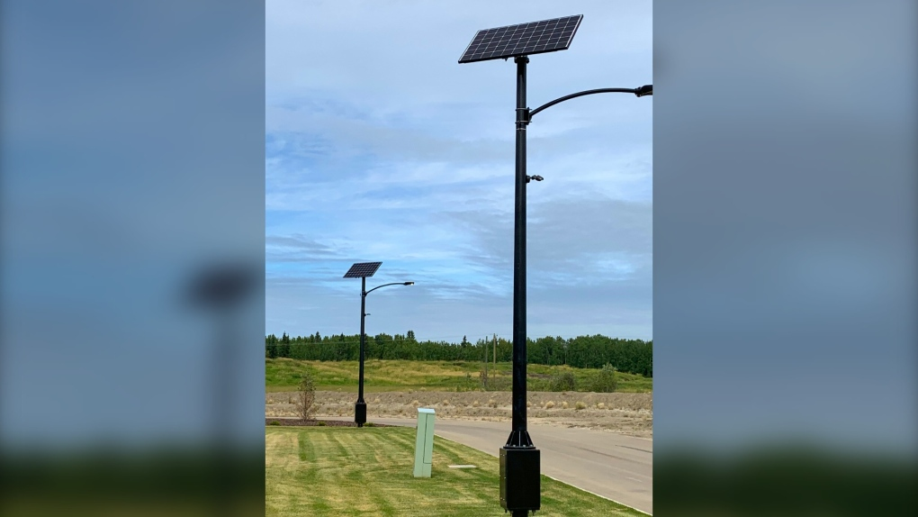 Solar powered lights Drayton Valley