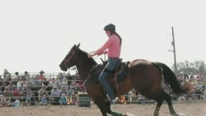 WATCH: Fans pack the International Plowing Match for the rodeo competition, including several female competitors. Ian Campbell reports.