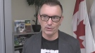 Councillor Shawn Lewis discusses overnight parking in London, Ont. on Thursday, Sept. 19, 2019. (Daryl Newcombe / CTV London)