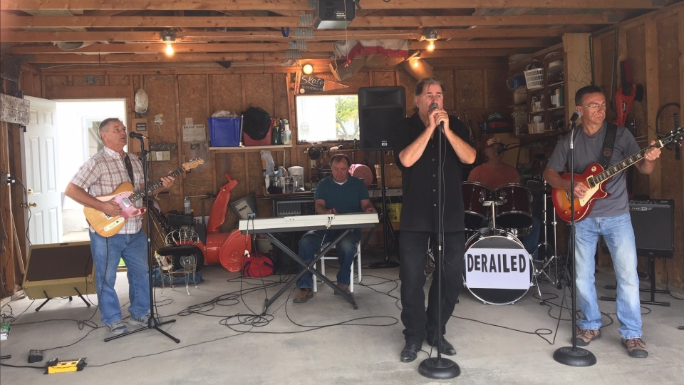 The band is called Derailed and it's made up of three retired CN workers and two other men in their 60s. (Source: Megan Benedictson/CTV News)