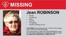 Provincial police released a missing person photo of Jean Robinson on Thurs., Sept. 19, 2019 (OPP)