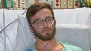 18 year old Adam Hergenreder in August, Gurnee, Illinois. His vaping habit nearly killed him.