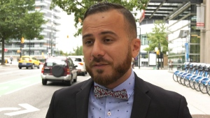 "Danny Ramadan, a Syrian-Canadian author and LGBTQ advocate, says the photos of Justin Trudeau in brownface were ""disheartening,"" but he accepts the Liberal leader's apology. (CTV)"