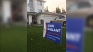 """Stan Gallant said he put up a yard sign reading, """"Not running for anything. Just wanted a sign,"""" to lighten the mood surrounding the federal election campaign. (Courtesy: Stan Gallant)"""