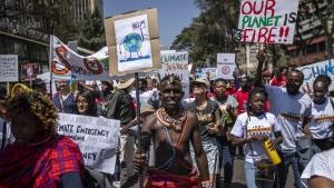 Protesters in Nairobi, Kenya
