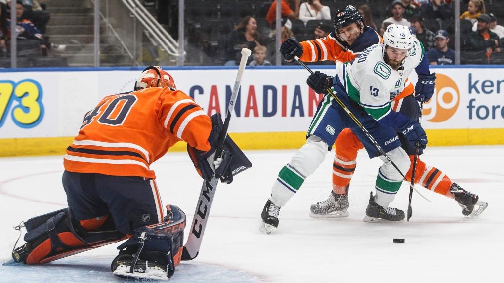 Canucks claim 6-1 pre-season win against the Oilers