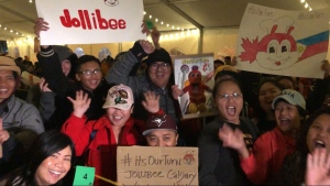 Hundreds of people lined up outside Pacific Place on September 20 to be among the first customers of Calgary's first Jollibee location