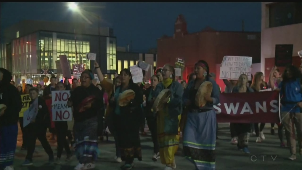 Hundreds march to 'Take Back the Night'