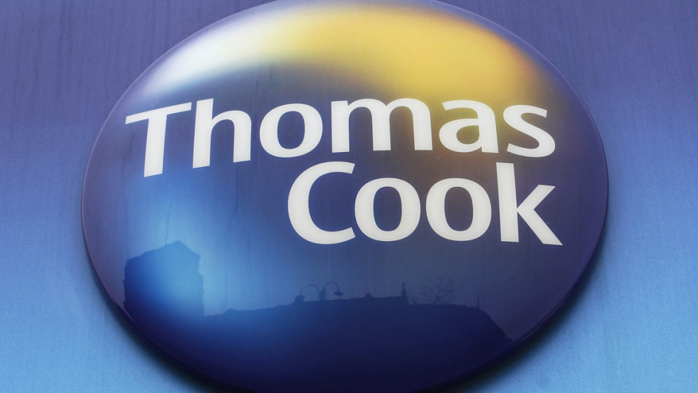 Thomas Cook travel agent sign
