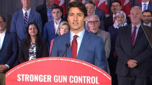 Liberal Leader Justin Trudeau speaking