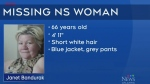 Missing woman graphic