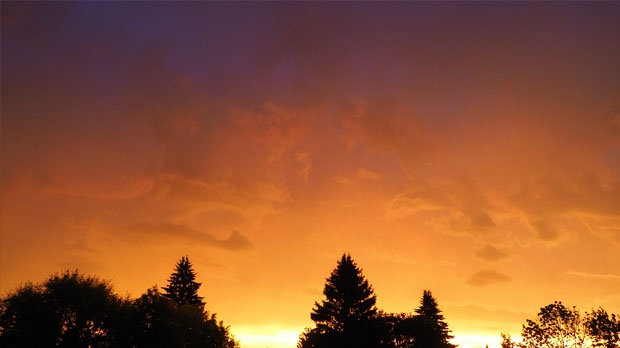 Gorgeous sky just as the rain was starting. Photo by Christine Lucko.