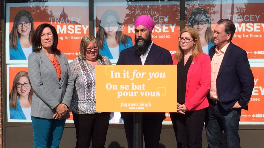 NDP Leader shares plan for pharmacare and dental care during Essex stop