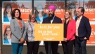 NDP Leader Jagmeet Singh shared his plan for pharmacare and dentacare during a stop in Essex on Friday, Sept. 20, 2019. (Stefanie Masotti / CTV Windsor)