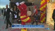 Steady stream of customers at Jollibee opening