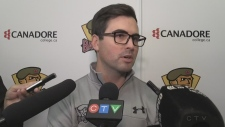 WATCH ONLINE EXCLUSIVE: North Bay Battalion Assistant Coach-General Manager Adam Dennis talks to the media about this year's OHL team.