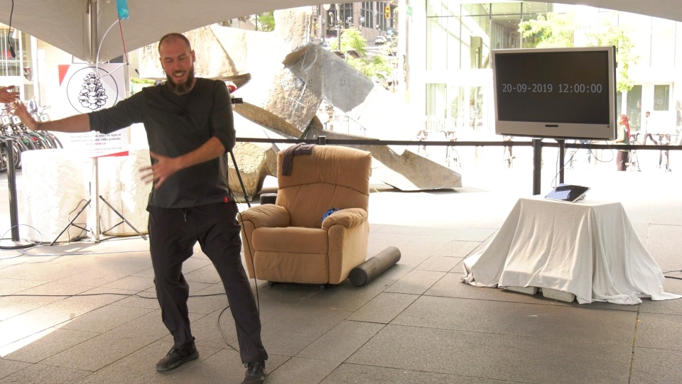 Samuel Michaud's non-stop 36-hour Tai-Chi practice broke the Guinness World Record for longest Tai-Chi marathon.