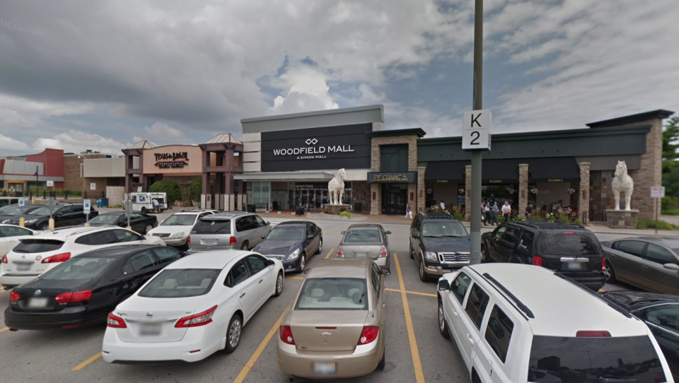 Woodfield Mall in Schaumburg, Ill. is seen in this Google Maps image.