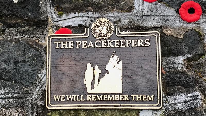 Comox Valley peacekeeper plaque stolen