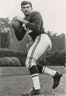 Former Alouette Quarterback Sam Etcheverry, seen here in a photo provided by the Alouettes, has died of cancer