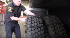 A B.C. Ministry of Transportation video on how to install chains on commercial vehicles. (Ministry of Transportation)