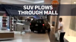 SUV drives through mall destroying stores