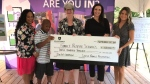 Members of the Solcz Family Foundation presented a cheque for $300,000 to Family Respite Services in support of the new capital campaign on Sept. 20, 2019. ( Michelle Maluske / CTV Windsor )