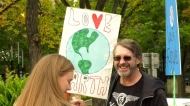 Rally for the environment draws hundreds