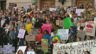 Climate change rally in Regina