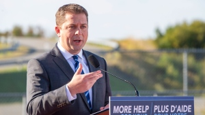 Federal Conservative leader Andrew Scheer makes a campaign announcement in Saint John, N.B. on Friday September 20, 2019. THE CANADIAN PRESS/Frank Gunn