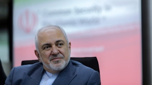 "In this Aug. 29, 2019 file photo, Iranian Foreign Minister Mohammad Javad Zarif attends a forum titled ""Common Security in the Islamic World"" in Kuala Lumpur, Malaysia. (AP Photo/Vincent Thian, File)"