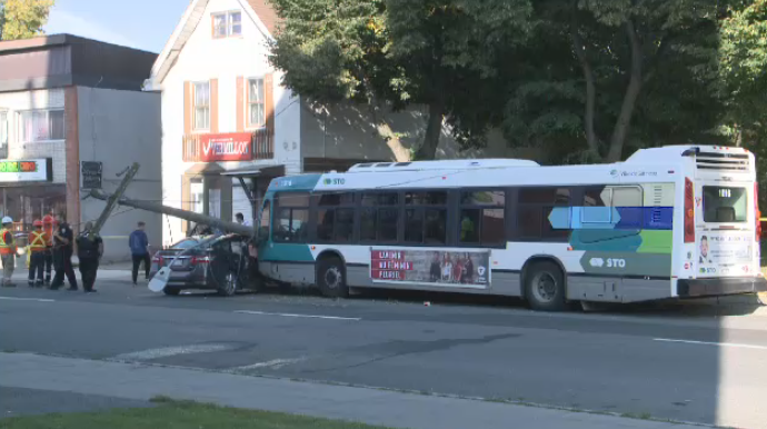 bus car crash