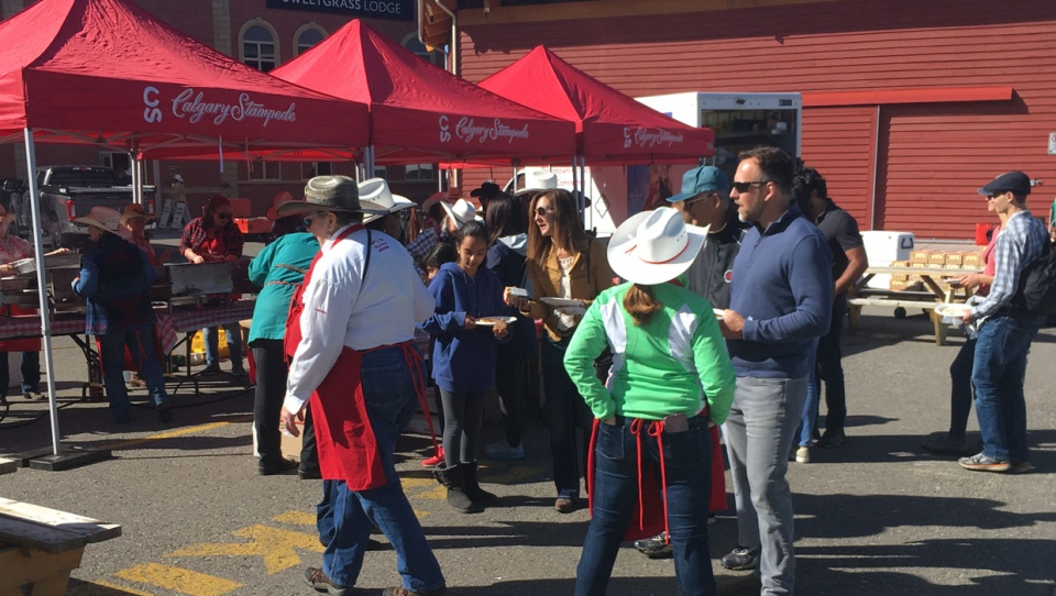 People were able to enjoy a big autumn party at Stampede Park on Saturday.