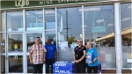 OPSEU members protest the province's privatization plan outside the LCBO at 5508 Lawrence Ave. E. Saturday. (CTV News Toronto)