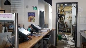 Around $100,000 in damage is believed to have been caused following a break-in at a Freshii in Guelph. (Heather Senoran/CTV Kitchener) (Sept. 21, 2019)