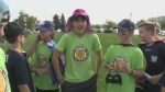 Superheroes fight against cancer
