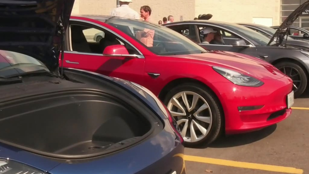 Largest electric vehicle gathering in Southwestern Ontario rolls into Cambridge