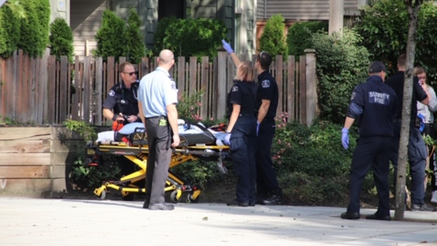Paramedics respond to child fall in Surrey